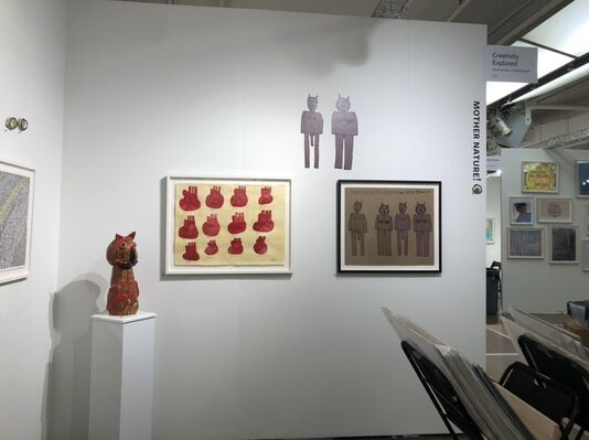 Creativity Explored at Outsider Art Fair 2020, installation view