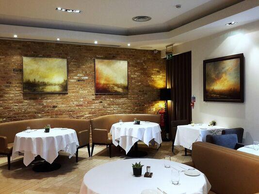 The Art Collection at AVISTA Bar & Restaurant, Millennium Hotel Mayfair, installation view