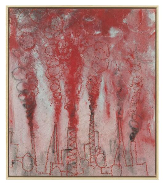 Andrej Dubravsky, 'Little factory with heavy red smoke', 2019