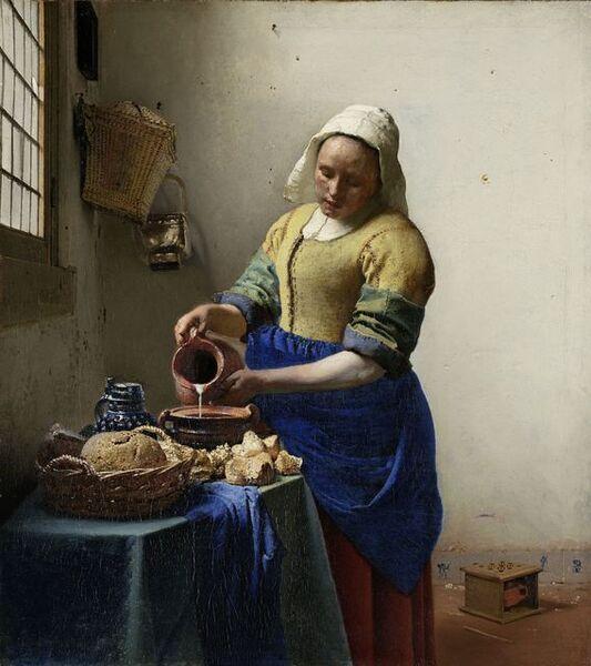 Johannes Vermeer, 'The Milkmaid', 1658-1660