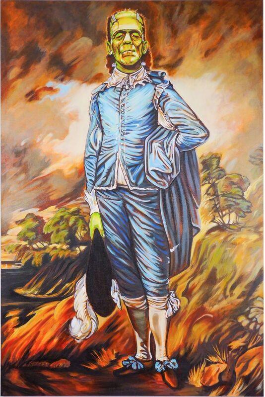 James Charles, 'Boyblue Frankenstein ', 2015, Painting, Mixed media on canvas, Joseph Gross Gallery