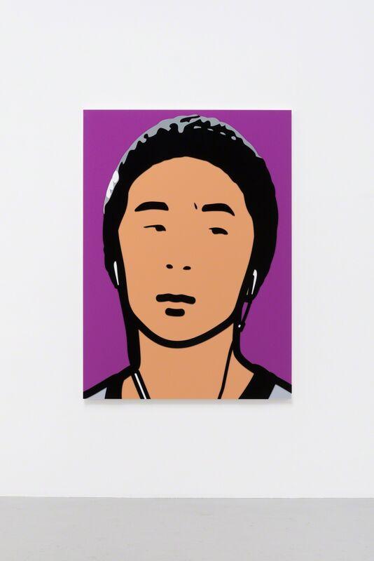 Julian Opie, '_OMP3161.jpg.ai', 2014, Sculpture, Inlaid and overlaid acrylic panel, Galeria Mário Sequeira