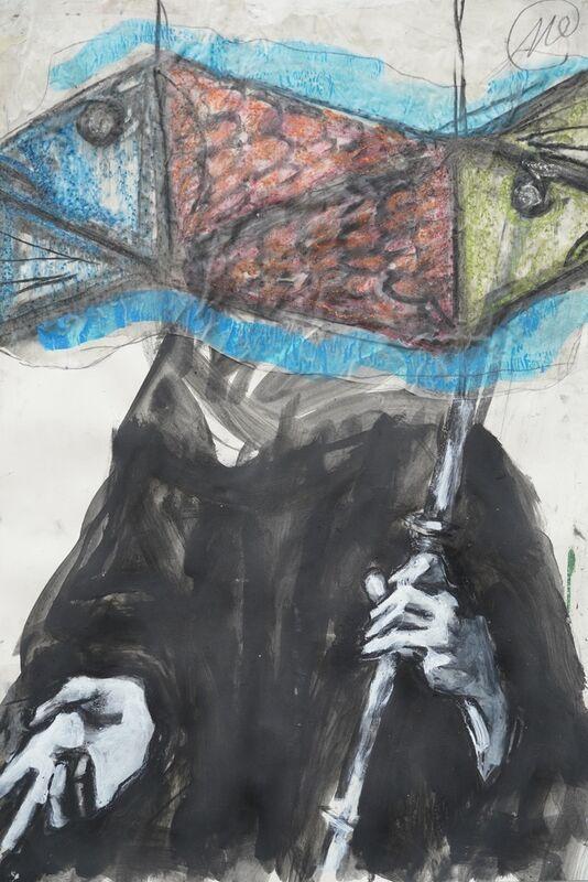 Markus Lüpertz, 'Ohne Titel - St Ulrich', 2021, Drawing, Collage or other Work on Paper, Mischtechnik, ARTAFFAIR