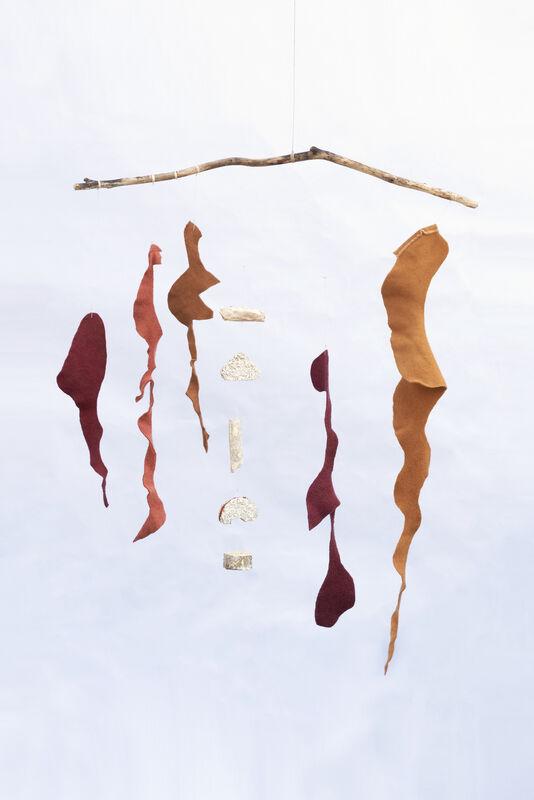 Maki Teshima, 'When Autumn Leaves Start to Fall', 2020, Sculpture, Wool dyed with bengara, henna, cochneal, madder roots, cutch, mushtoom, hemp string, tree twig, SHIM Art Network