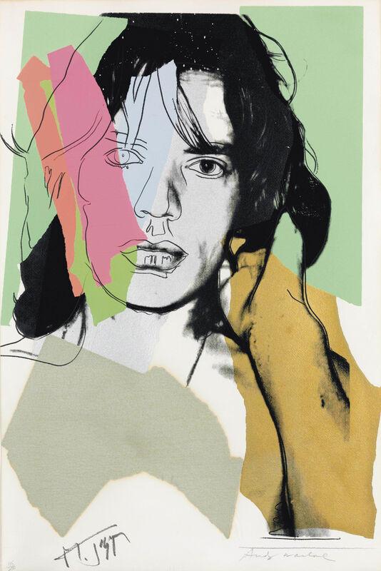 Andy Warhol, 'Mick Jagger (F&S II.140)', 1975, Print, Screenprint on Arches Aquarelle rough paper, MoonStar Fine Arts Advisors