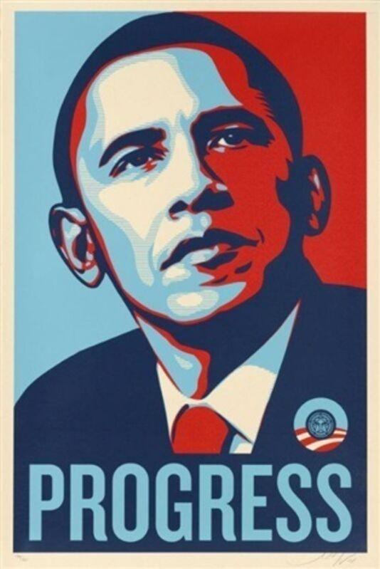 Shepard Fairey, 'PROGRESS (Obama)', 2008, Print, Screenprint, EHC Fine Art