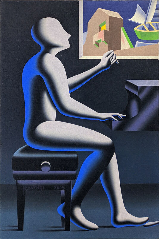 Mark Kostabi, 'THE ARCHITECTURE OF SOUND', 2005, Painting, OIL ON CANVAS, Gallery Art