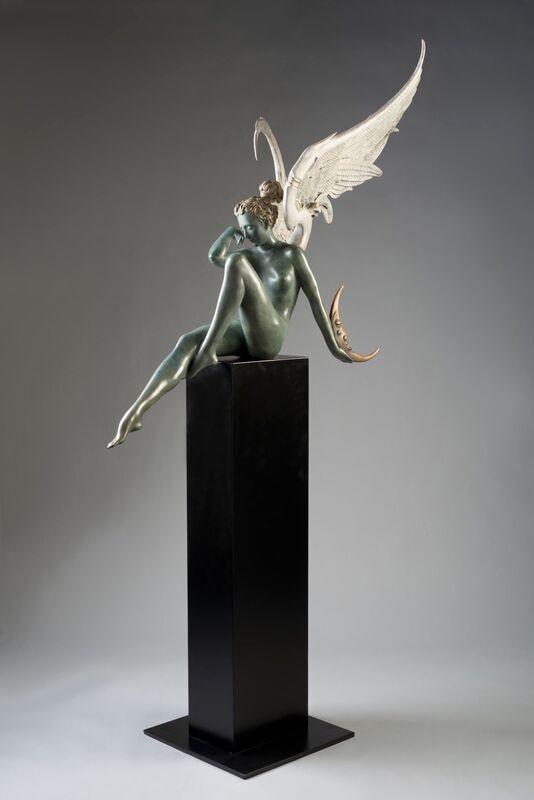 Michael Parkes, 'Moonstruck ', 2018, Sculpture, Cast-sculpture in bronze., Off The Wall Gallery