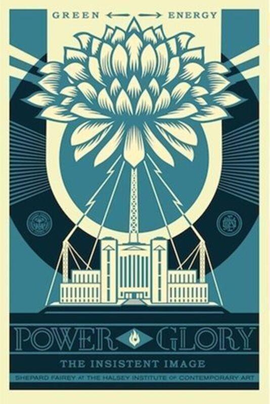 Shepard Fairey, 'Power and Glory [BLUE]', 2014, Print, Screen-Print, Samuel Owen Gallery