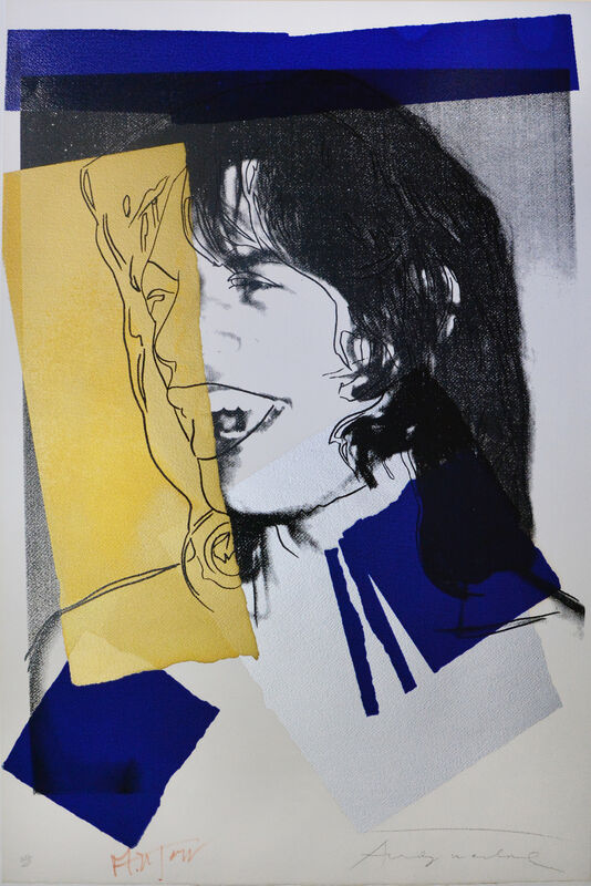 Andy Warhol, 'Mick Jagger', 1975, Print, Silkscreen in colours on textured watercolour paper by Arches, Shapero Modern