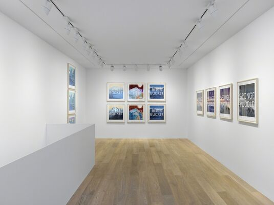 Ed Ruscha: Mountain Prints, installation view