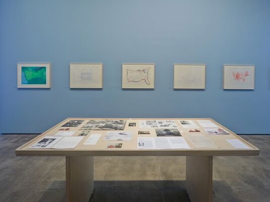 From Memory: Draw a Map of the United States, installation view