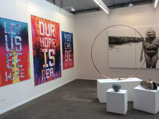 Aeroplastics at Art Brussels 2016, installation view