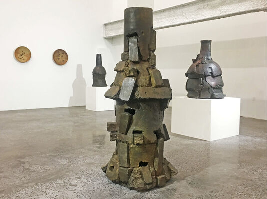 Peter Voulkos:  Stacks (1969 - 2001), installation view
