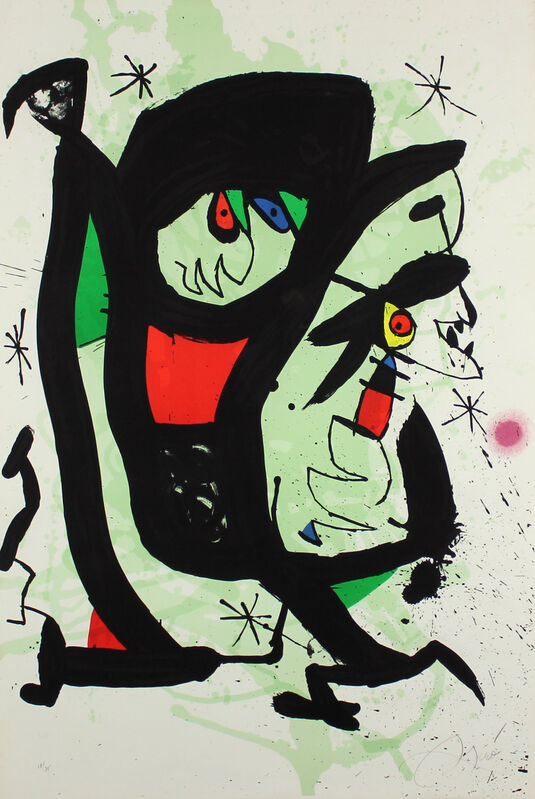Joan Miró, 'Young Artists', 1973, Print, Lithograph on Arches Paper, Gormleys Fine Art