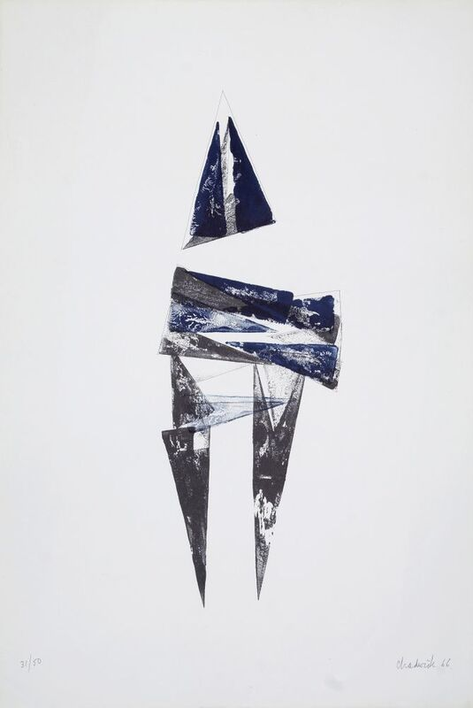 Lynn Chadwick, 'Figure IV', 1966, Print, Lithograph printed in colours on Chadwick watermarked wove paper, Roseberys