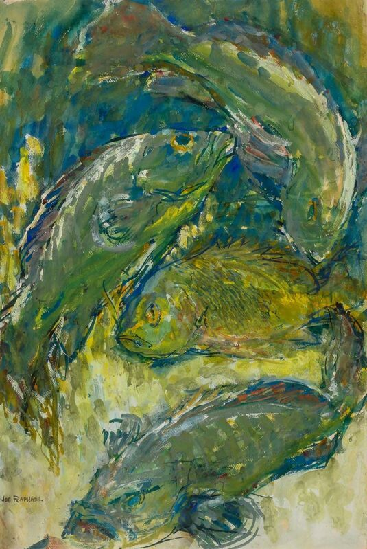 Joseph M. Raphael, 'Fish', Drawing, Collage or other Work on Paper, Watercolor on paper, Doyle