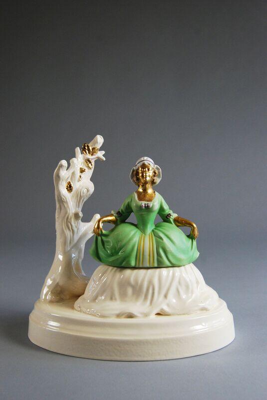 Matt Smith (British), 'Golden Girl', 2015, Sculpture, White Earthenware, Found Ceramic, Lustre, Cynthia Corbett Gallery