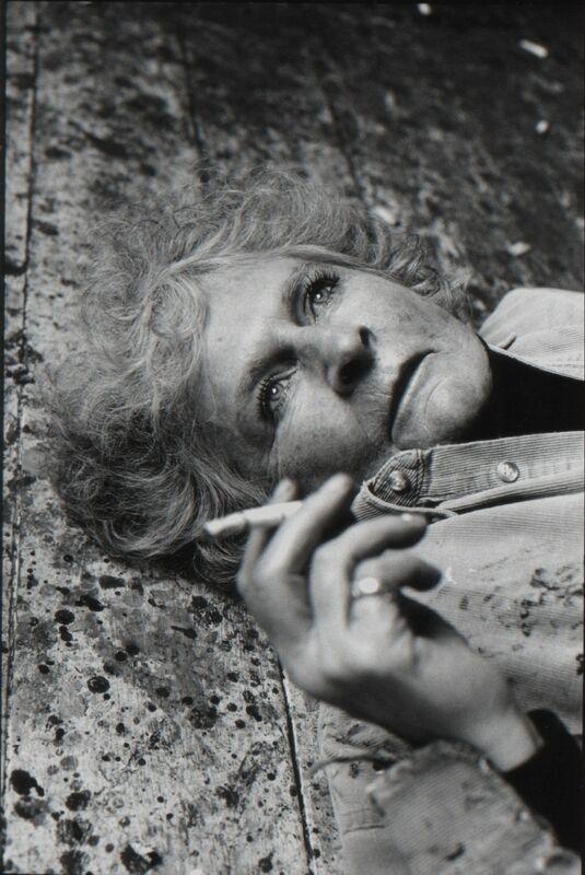Nicola Bensley, 'Maggi Hambling on her studio floor ', 2017, Photography, Silver Gelatin Fibre Print, Mounted and Signed, Candida Stevens Gallery