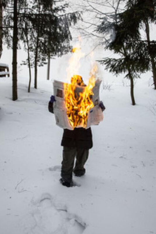 Tim Parchikov, 'Burning News', 2011, Photography, Chromogenic print, K.O.N.G. Gallery