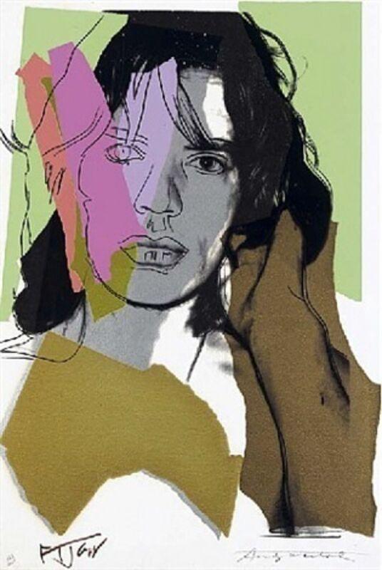 Andy Warhol, 'Mick Jagger  F&S ll.140', 1975, Print, Screenprint on Arches Aquarelle, Vertu Fine Art