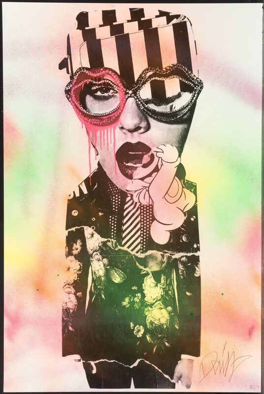 DAIN, 'Untitled', 2017, Print, Screenprint with hand coloring on paper, Heritage Auctions