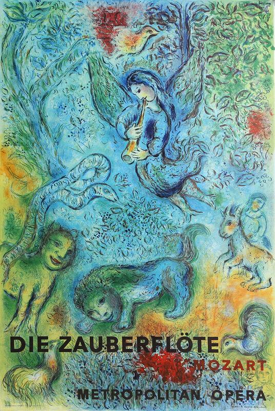 Marc Chagall, 'Metropolitan Opera, The Magic Flute', circa 1970, Print, Offset Lithograph, RoGallery