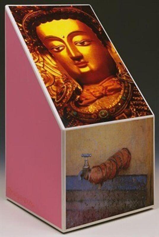 Robert Rauschenberg, 'Tibetan Keys (Bevel)', 1987, Sculpture, Sculpture with photo-screenprinted decals, etc., Hamilton-Selway Fine Art