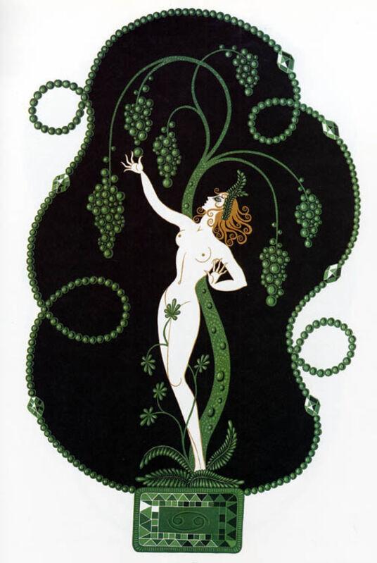 Erté (Romain de Tirtoff), 'Emerald (The Precious Stones)', 1969, Print, Hand-signed lithograph, Martin Lawrence Galleries