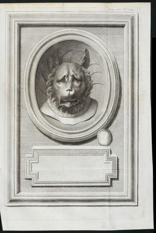 Johann Joachim Winckelmann, 'Head of a lion', 1760, Engraving, Getty Research Institute