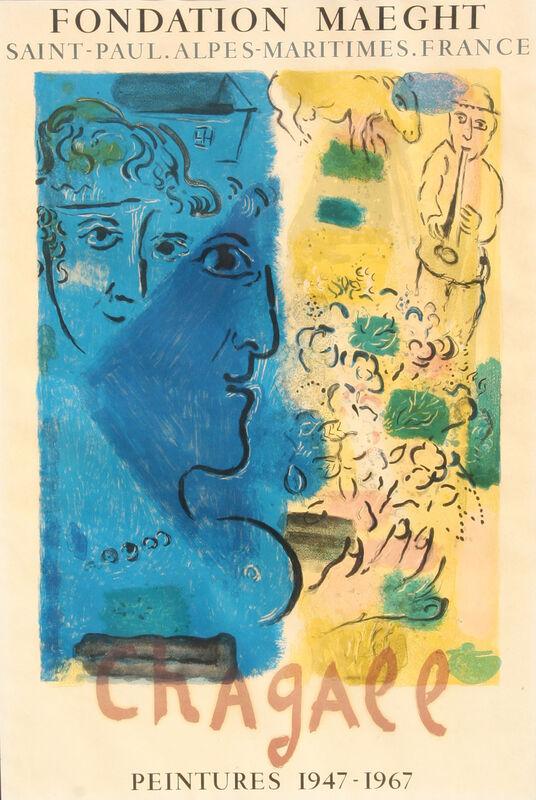 Marc Chagall, 'Fondation Maeght: Peintures 1947 - 1967', 1967, Ephemera or Merchandise, Lithograph Poster, RoGallery