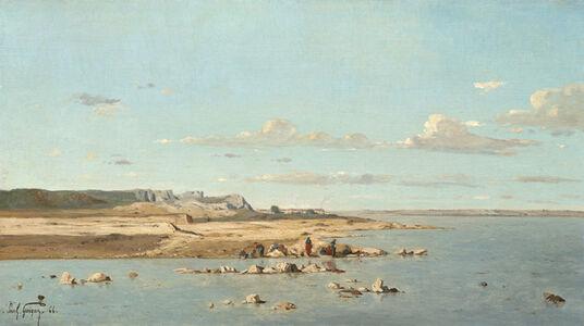 Paul Guigou, 'Washerwomen on the Banks of the Durance', 1866