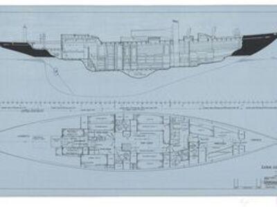 Sparkman & Stephens, 'Design No. 711 Cabin Construction of Bolero', 1980