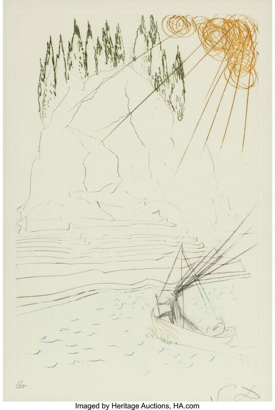 Salvador Dalí, 'Tristan et Iseult (five works)', 1970, Other, Engravings in color on Mandeure paper, Heritage Auctions