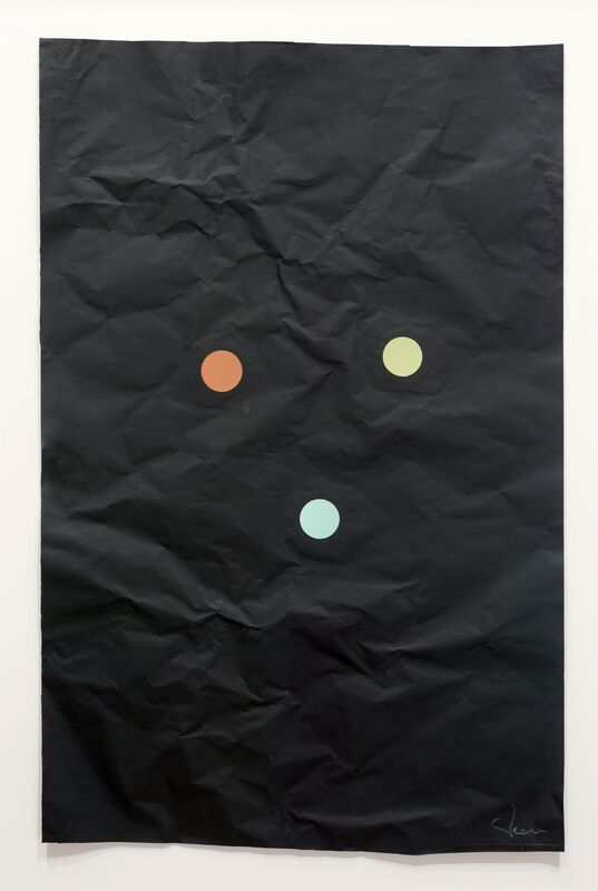 Stephen Dean, 'Juggler 17', 2014, Drawing, Collage or other Work on Paper, Aluminium paper and dichroic glass, McClain Gallery