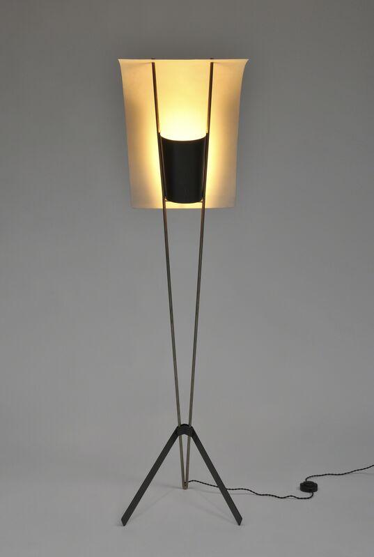 Pierre Guariche, 'Floorlamp G30Edition Pierre Disderot', 1952, Design/Decorative Art, Polish brass, black and white lacquered metal and aluminium, Galerie Pascal Cuisinier