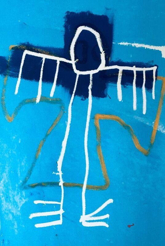 Jean-Michel Basquiat, 'Basquiat Angel Skateboard Deck (Basquiat skate deck)', 2018, Ephemera or Merchandise, Silkscreen on maple wood skateboard deck, Lot 180