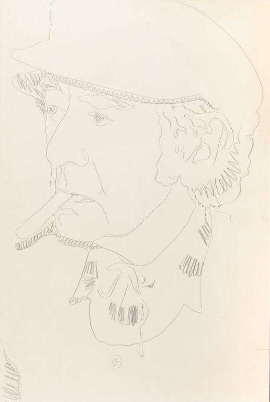 Andy Warhol, 'Man Ray', 1974, Drawing, Collage or other Work on Paper, Pencil on cardboard, Aste Boetto