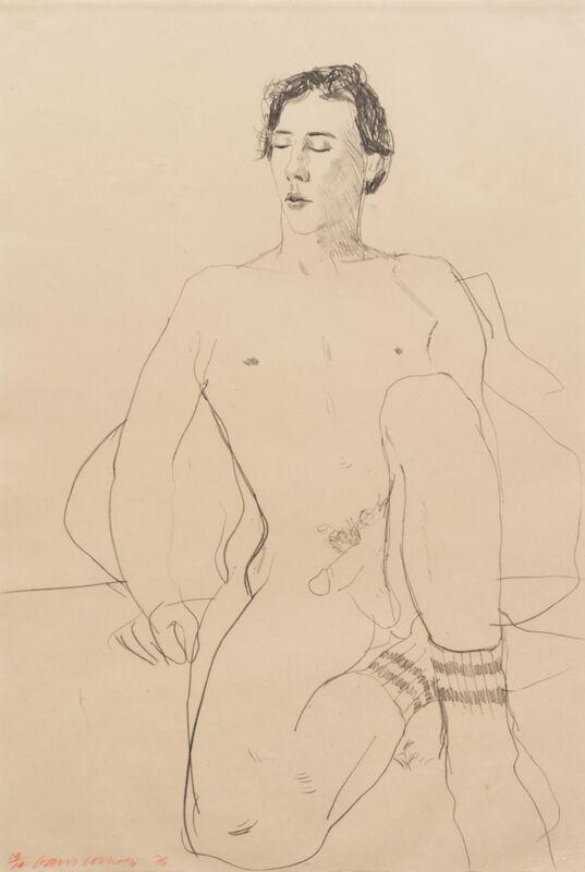 David Hockney, 'Gregory with Gym Socks', 1976, Print, Lithograph, Hindman