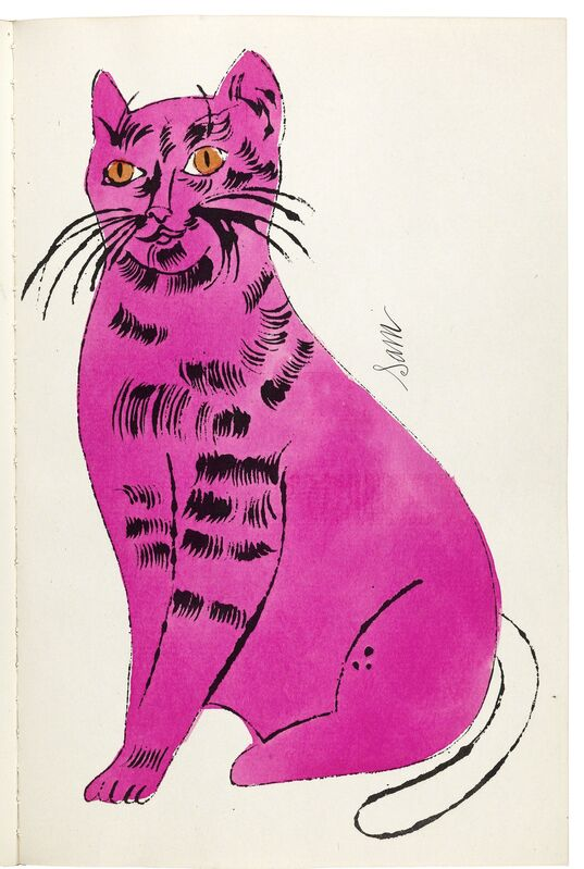 Andy Warhol, '25 Cats Name Sam and One Blue Pussy', 1954, Books and Portfolios, Bound artist's book, litho-offset prints on paper with hand coloring, Williams College Museum of Art