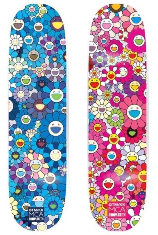 Takashi Murakami, 'Takashi Murakami x Takashi Murakami Flower Skateboard (Blue)', 2017, Design/Decorative Art, Skateboard Decks, Curator Style
