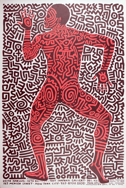 Keith Haring, 'Keith Haring: into 84', 1984, Print, Silkscreen, NCAG