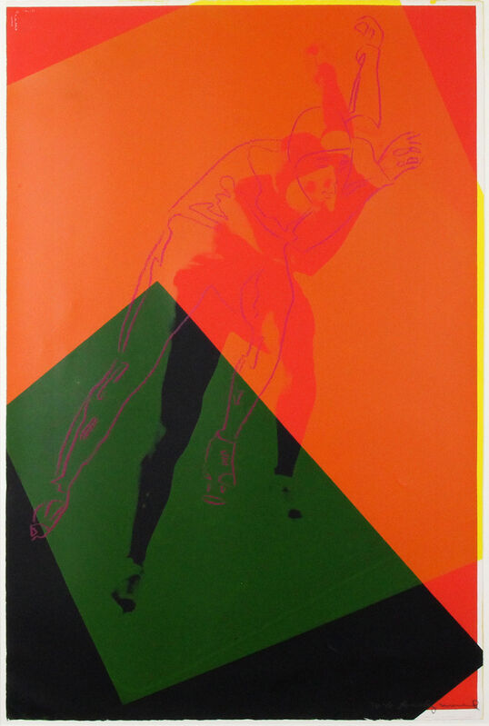 Andy Warhol, 'Speed Skater (FS II.303)', 1983, Print, Screen-print on Arches Aquarelle (cold pressed) paper, Gormleys Fine Art