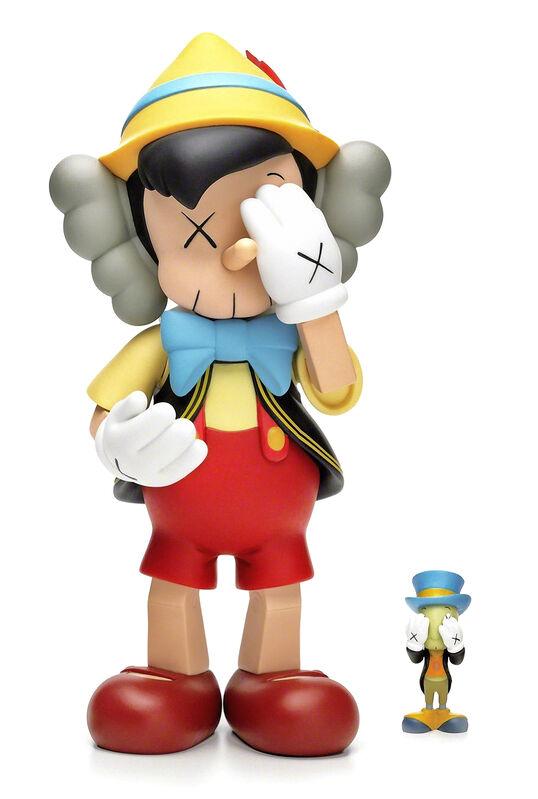 KAWS, 'Pinocchio & Jiminy Cricket', 2010, Sculpture, Painted cast vinyl sculpture, Tate Ward Auctions