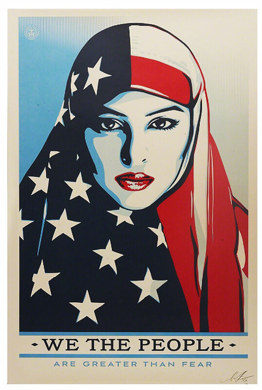 Shepard Fairey, 'We The People - Are Greater Than Fear', 2017, Print, Offset lithograph, EHC Fine Art