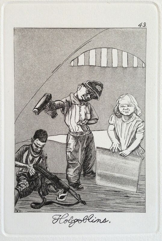 Emily Lombardo, 'Hobgoblins, from The Caprichos', 2013, Print, Etching and aquatint, Childs Gallery