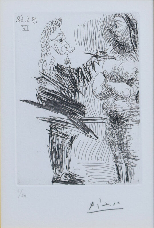 Pablo Picasso, 'The 347 series BL.1647', 1968, Print, Eau-forte, Gallery Suiha