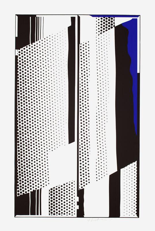 Roy Lichtenstein, 'Twin Mirrors', 1970, Print, 2-color screenprint on white wove paper, Gemini G.E.L. at Joni Moisant Weyl
