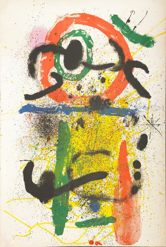 Joan Miró, 'Pierrot le Fou', 1964, Mixed Media, Lithograph in colors on Arches, Rago/Wright