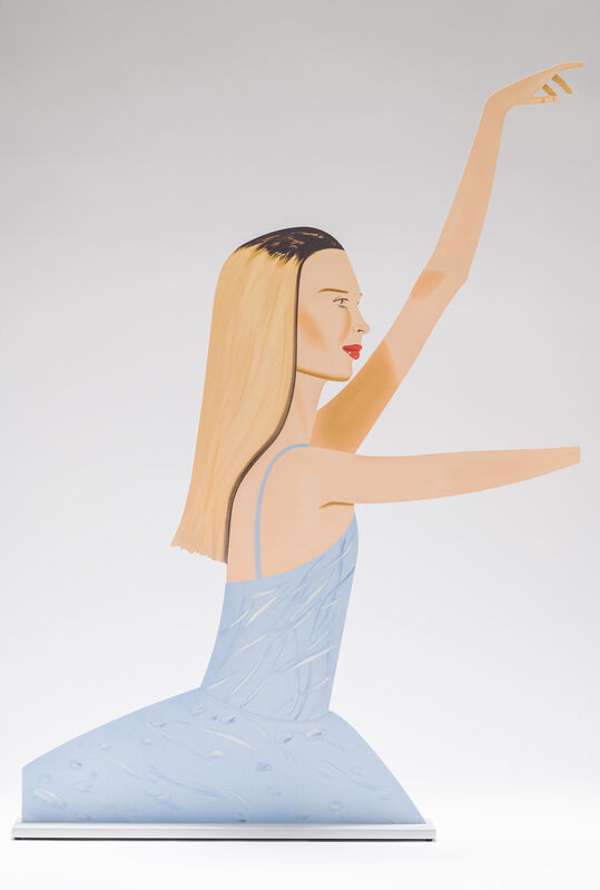 Alex Katz, 'Dancer 2 (Cutout) ', 2020, Sculpture, Cutout from shaped powder-coated aluminum, printed the same on each side with UV-cured archival inks, clear coated, and mounted to 3/8 inch polished aluminum base, Corridor Contemporary